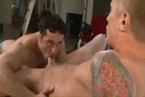 Two obscene vigour fuckers enjoying a rough homo fuckfest