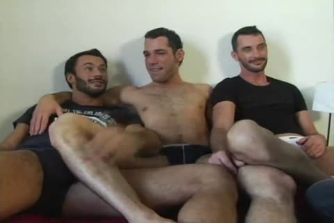 trio poke With A sex dildo