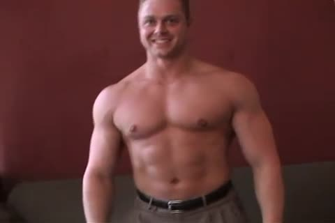 dirty blond penis Muscle man Strokes It