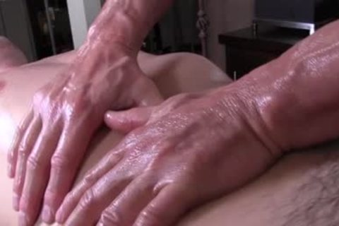Gayroom daddy Masseur Rubs And Probes humongous penis Ster