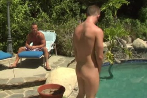 fine gays nailing In Outdoor Pool