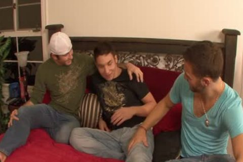 lusty gays pounding In three-some
