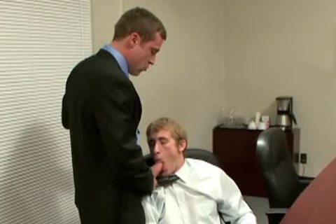 alluring homo acquires wazoo Nailed In The Office
