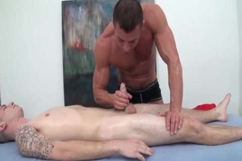 HD GayRoom - Travis gets Massaged By man