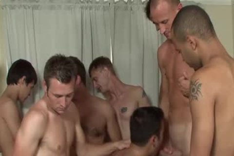 non-professional Facialized During awesome homosexual gangbang