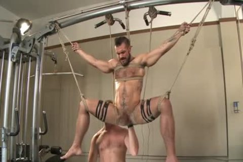 Muscled Gym Rat tied And Fisted
