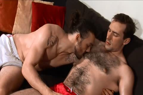 darksome-haired guys engulfing And nailing.