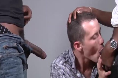 Seth Ryan Is poked By Two darksome males
