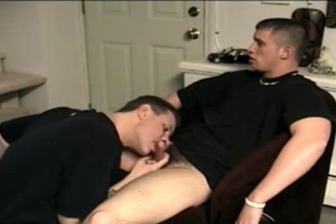 Two lustful homo males engulf Eachothers large knob