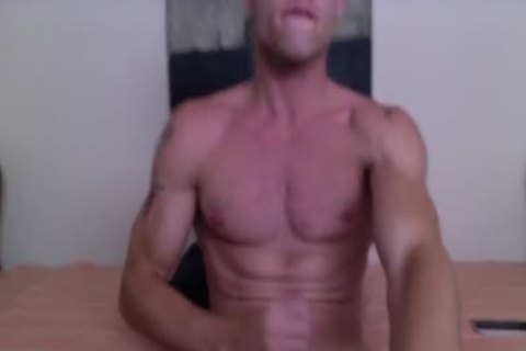 Justin Matthews Has A goo Fest On His Six-Pack Abs