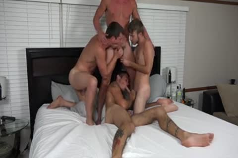 A couple AND TWO allies fucking ON cam