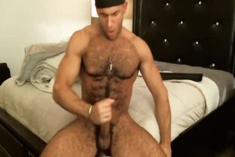good Looking bushy guy Sean Zevran Enjoys A dildo And Cums Twice