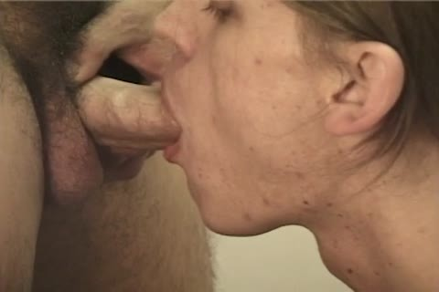 Cumhungry gay man receives cum All Over His Face