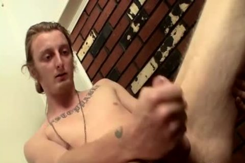 long Hair dude Billy Jerks His Hard rod In Front Of Camera