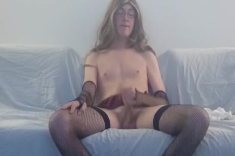 Solo Sissy Amber Emily Watching Porn And nailing Herself