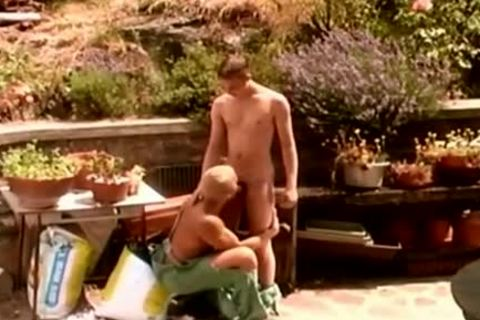 Hunk Gardeners can't Stand The Heat outdoors