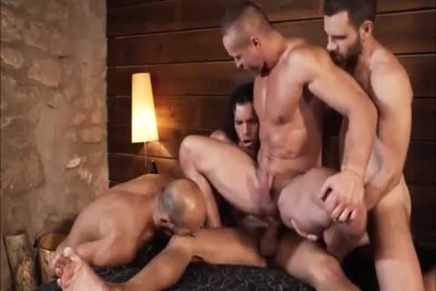 dirty Muscle men In 4some