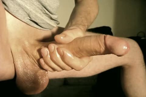 Robin Jerks His shaved Oiled Uncut Monstercock137