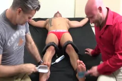 A Super filthy Or Trot Bald twink With Ink receives A hardcore Tickle Session