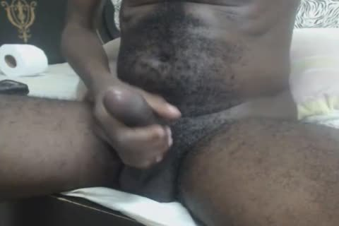 bi-raunchy darksome With shaggy Body Masturbates And Cums