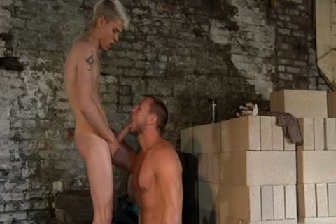 Muscle twinks ass plow And sperm drinking