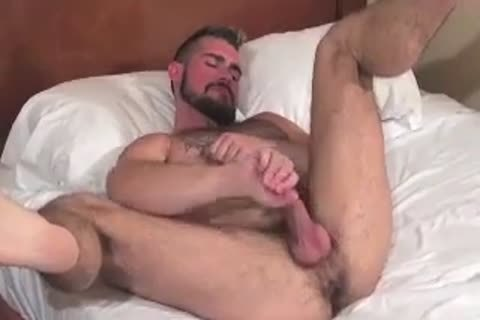 big Bear Daddy Breeds taut arse group-sex taut gap In Some good Barebacking Session