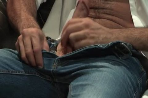 Muscle Bear pooper job With Facial spooge