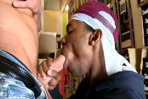 sweet gay Interracial With anal cumshot