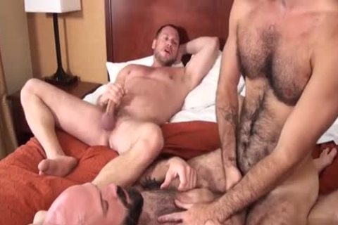 bushy Bear three-some And Creampie