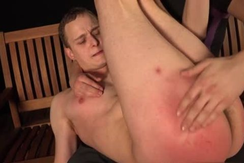 filthy homo spanking And goo flow