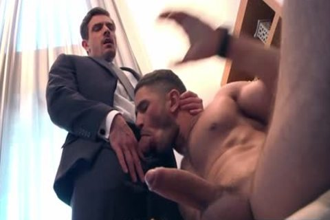 Muscle homosexual butt invasion With Facial