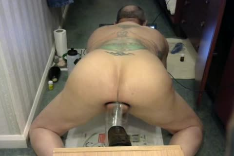 guy Pussie Play thick long dildo,Egg Plant Some Vacuum Pumping