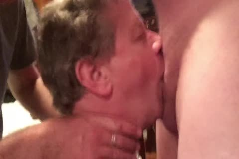 two Hung males Skull-poke This Fag Then Bukkake The cock-sucker's Face