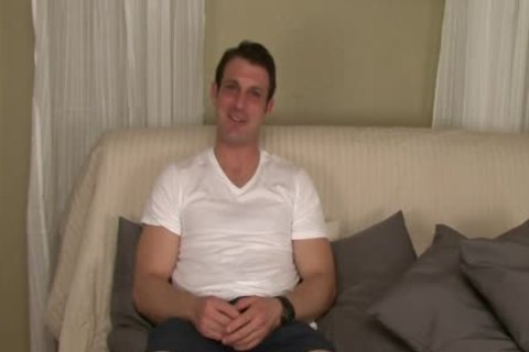 Straight Hunk Tricked Into Surprise oral stimulation-service During audition