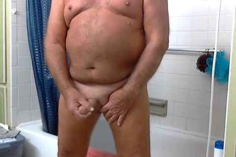 older man Shower