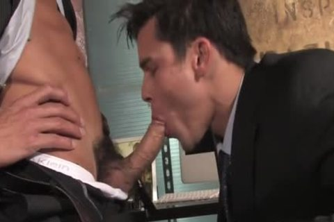 large weenie homo oral-job job And ball cream flow