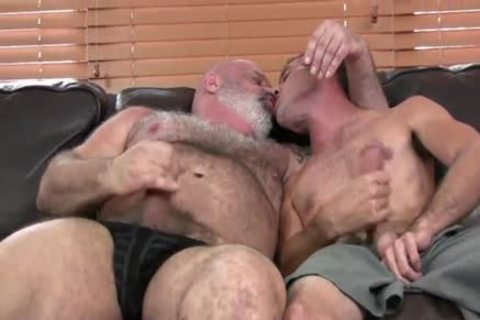 gorgeous hairy bulky dad bonks Hard His Son