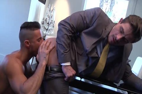 Muscle homosexual booty stab With sperm flow