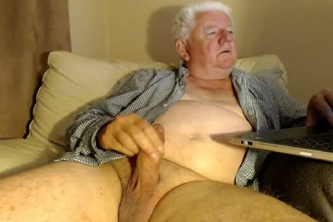 older man wank On web camera