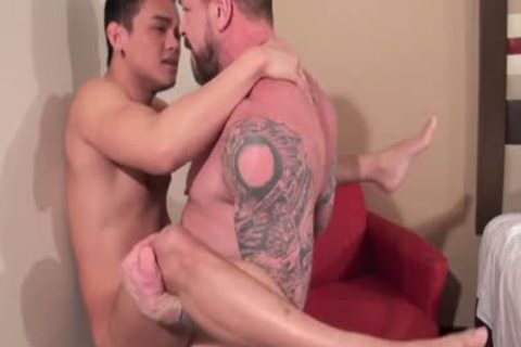 asian Daddy ass job With ejaculation