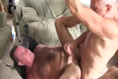 hairy Chest Daddy's bare gangbang
