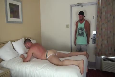 Muscle Bottom gets team-fucked In Hotel Room