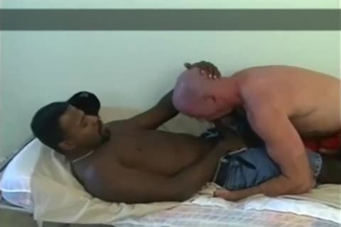 black Daddy's fascinating throat And butt hole