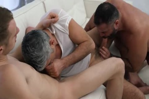 Two Daddies Take raw Advantage Of Their lad