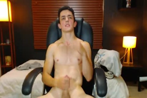 Duke J On Flirt4Free - monstrous Dicked guy Jerks Off W OhMiBod Lodged In butthole