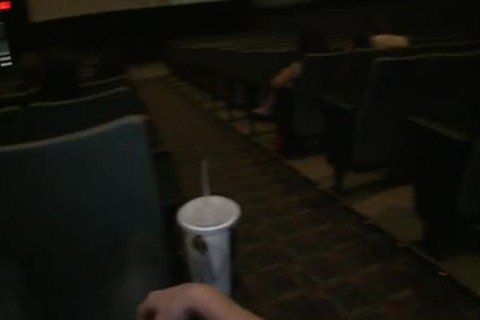 Public homo sex -- In a nailing video theater!