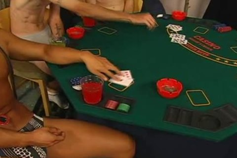 strip poker inevitably leads to attractive homo sex