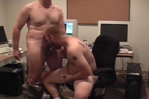 Two horny Hunks acquire in nature's garb In The Office And plough wazoo