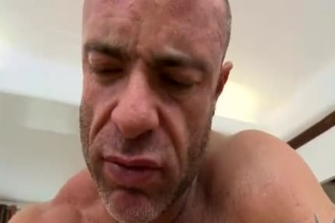 muscular cutie's first homo engulf and fuck