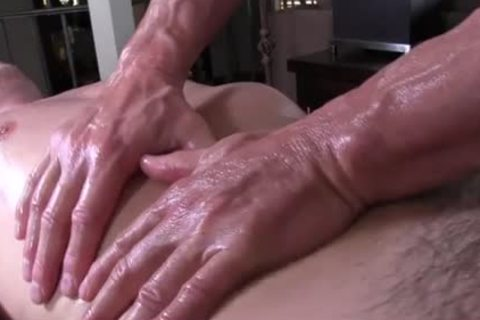 GayRoom daddy masseur rubs and probes throbbing ramrod youngster - painfully sex movie - Tube8.com